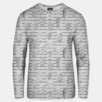 Thumbnail image of Wisdom Beard Wisdom - light grey Unisex sweater, Live Heroes