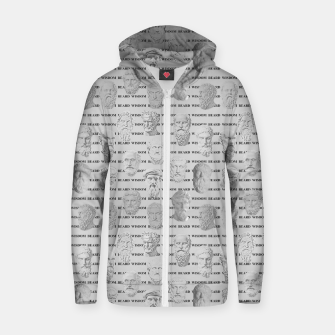 Thumbnail image of Wisdom Beard Wisdom - light grey Zip up hoodie, Live Heroes