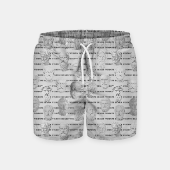Thumbnail image of Wisdom Beard Wisdom - light grey Swim Shorts, Live Heroes