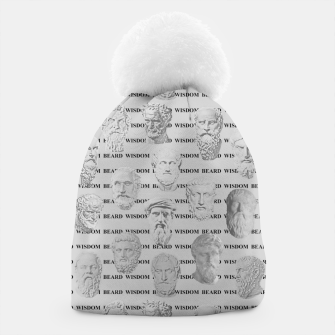 Thumbnail image of Wisdom Beard Wisdom - light grey Beanie, Live Heroes