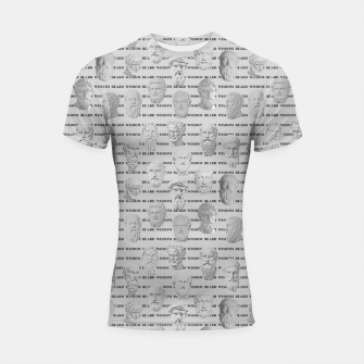 Thumbnail image of Wisdom Beard Wisdom - light grey Shortsleeve rashguard, Live Heroes