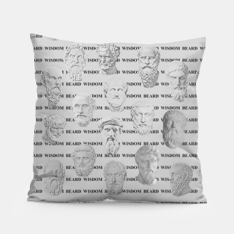 Thumbnail image of Wisdom Beard Wisdom - light grey Pillow, Live Heroes