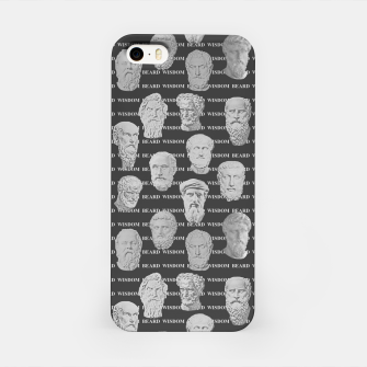 Thumbnail image of Wisdom Beard Wisdom - dark grey iPhone Case, Live Heroes