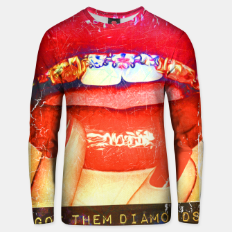 Thumbnail image of DIAMONDS IN MY MOUTH Unisex sweater, Live Heroes