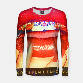 Thumbnail image of DIAMONDS IN MY MOUTH Women sweater, Live Heroes