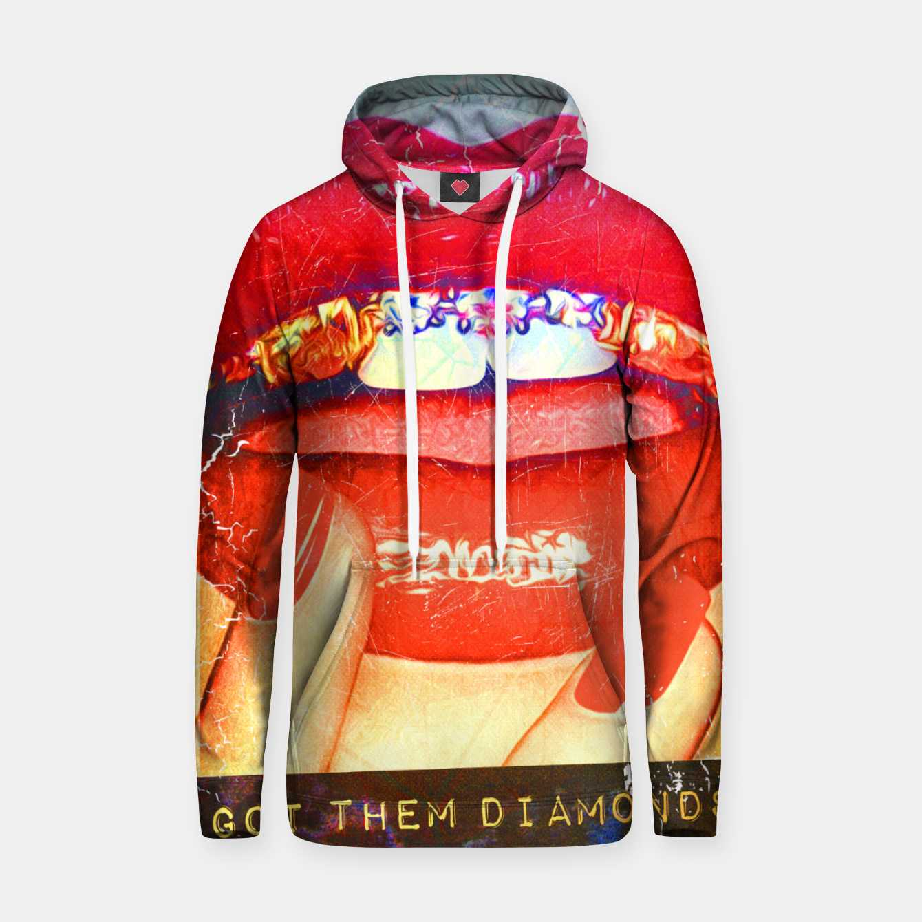 Image of DIAMONDS IN MY MOUTH Hoodie - Live Heroes