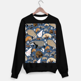 Imagen en miniatura de Badger pattern in blue Sudadera regular, Live Heroes