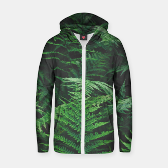 Thumbnail image of Fern Zip up hoodie, Live Heroes