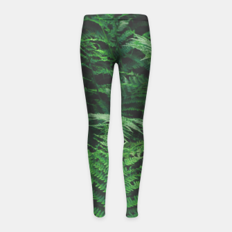 Fern Girl's leggings Bild der Miniatur