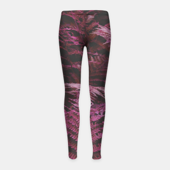Fern 2 Girl's leggings Bild der Miniatur