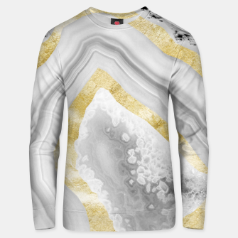 Thumbnail image of Agate Gold Foil Glam #3 #gem #decor #art Unisex sweatshirt, Live Heroes