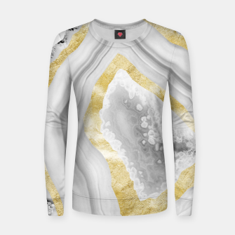 Thumbnail image of Agate Gold Foil Glam #3 #gem #decor #art Frauen sweatshirt, Live Heroes