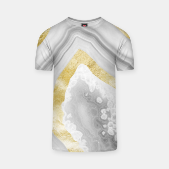 Thumbnail image of Agate Gold Foil Glam #3 #gem #decor #art T-Shirt, Live Heroes