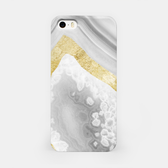 Thumbnail image of Agate Gold Foil Glam #3 #gem #decor #art iPhone-Hülle, Live Heroes