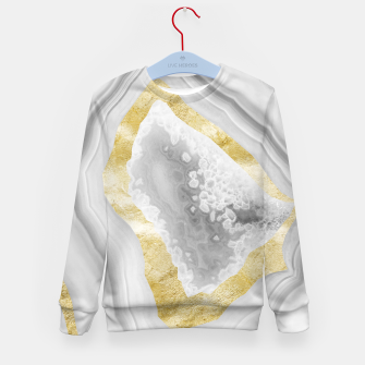 Thumbnail image of Agate Gold Foil Glam #3 #gem #decor #art Kindersweatshirt, Live Heroes