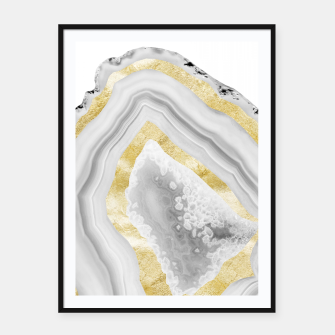 Thumbnail image of Agate Gold Foil Glam #3 #gem #decor #art Plakat mit rahmen, Live Heroes