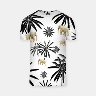 Thumbnail image of Palm Tree Elephant Jungle Pattern #1 (Kids Collection) #decor #art  T-Shirt, Live Heroes