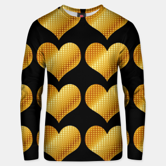 Thumbnail image of Golden hearts-Black Sudadera unisex, Live Heroes