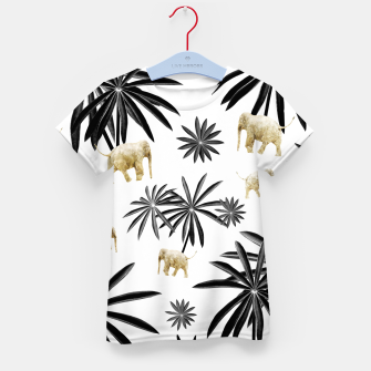 Miniaturka Palm Tree Elephant Jungle Pattern #1 (Kids Collection) #decor #art  T-Shirt für kinder, Live Heroes