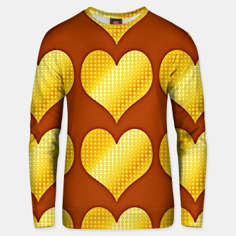 Thumbnail image of Golden hearts-Brown Sudadera unisex, Live Heroes