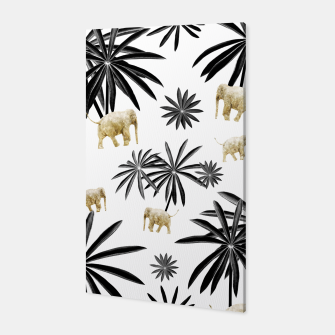 Thumbnail image of Palm Tree Elephant Jungle Pattern #1 (Kids Collection) #decor #art  Canvas, Live Heroes