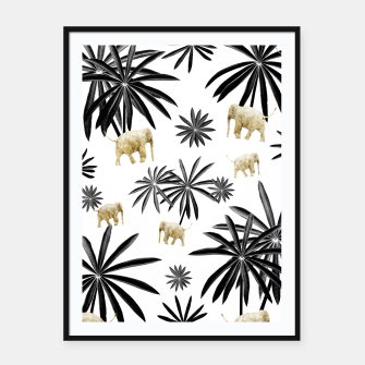 Miniaturka Palm Tree Elephant Jungle Pattern #1 (Kids Collection) #decor #art  Plakat mit rahmen, Live Heroes