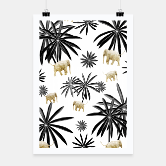 Miniaturka Palm Tree Elephant Jungle Pattern #1 (Kids Collection) #decor #art  Plakat, Live Heroes