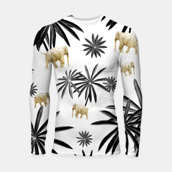Thumbnail image of Palm Tree Elephant Jungle Pattern #1 (Kids Collection) #decor #art  Longsleeve rashguard, Live Heroes