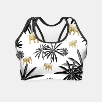Miniaturka Palm Tree Elephant Jungle Pattern #1 (Kids Collection) #decor #art  Crop Top, Live Heroes