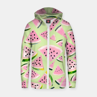 Miniaturka Watermelon Twist Vibes #1 #tropical #fruit #decor #art  Reißverschluss kapuzenpullover, Live Heroes
