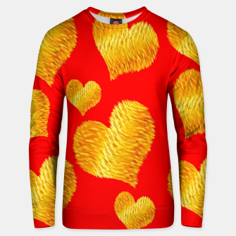 Thumbnail image of Curline hearts-Red Sudadera unisex, Live Heroes