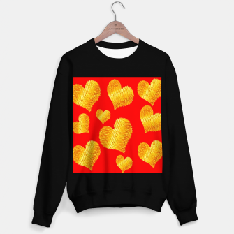 Thumbnail image of Curline hearts-Red Sudadera regular, Live Heroes