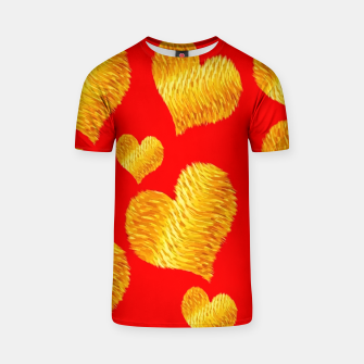 Thumbnail image of Curline hearts-Red Camiseta, Live Heroes