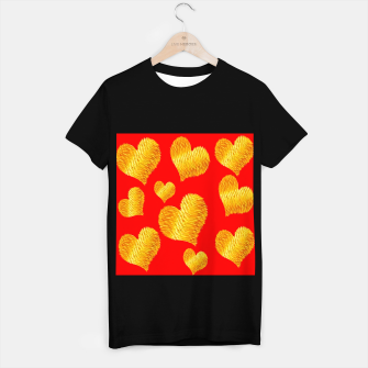 Thumbnail image of Curline hearts-Red Camiseta Regular, Live Heroes