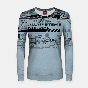 Thumbnail image of All Sytems Redy Frauen sweatshirt, Live Heroes