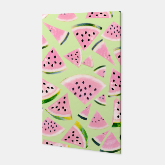 Thumbnail image of Watermelon Twist Vibes #1 #tropical #fruit #decor #art  Canvas, Live Heroes
