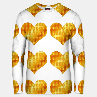 Thumbnail image of Golden hearts-White Sudadera unisex, Live Heroes