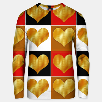 Thumbnail image of Golden hearts-Collage Sudadera unisex, Live Heroes