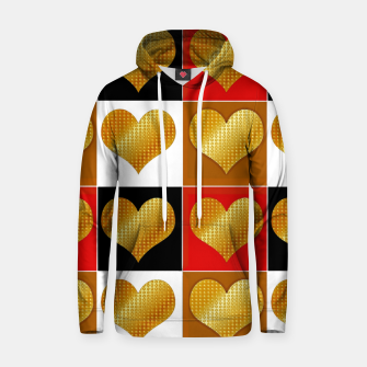 Thumbnail image of Golden hearts-Collage Sudadera con capucha, Live Heroes