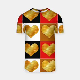 Thumbnail image of Golden hearts-Collage Camiseta, Live Heroes