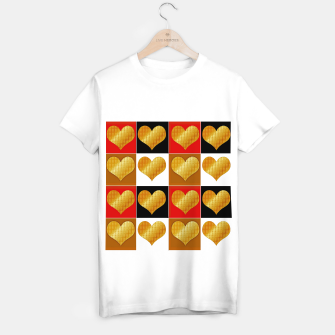 Thumbnail image of Golden hearts-Collage Camiseta Regular, Live Heroes