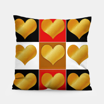 Thumbnail image of Golden hearts-Collage Almohada, Live Heroes