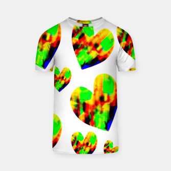 Thumbnail image of Watercolor hearts Camiseta, Live Heroes