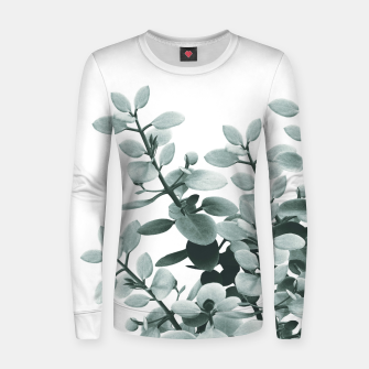 Thumbnail image of Eucalyptus Leaves Green Vibes #1 #foliage #decor #art  Frauen sweatshirt, Live Heroes