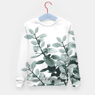 Thumbnail image of Eucalyptus Leaves Green Vibes #1 #foliage #decor #art  Kindersweatshirt, Live Heroes