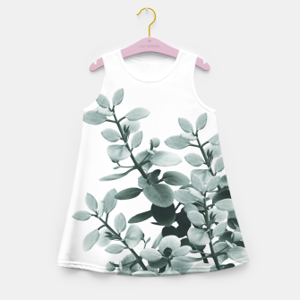 Thumbnail image of Eucalyptus Leaves Green Vibes #1 #foliage #decor #art  Mädchen-Sommerkleid, Live Heroes