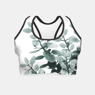 Thumbnail image of Eucalyptus Leaves Green Vibes #1 #foliage #decor #art  Crop Top, Live Heroes