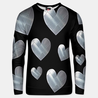 Thumbnail image of Silver hearts-Black Sudadera unisex, Live Heroes