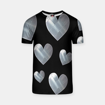 Thumbnail image of Silver hearts-Black Camiseta, Live Heroes