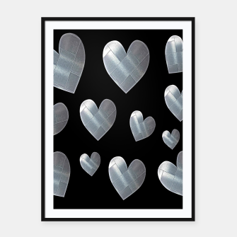 Thumbnail image of Silver hearts-Black Cartel con marco, Live Heroes